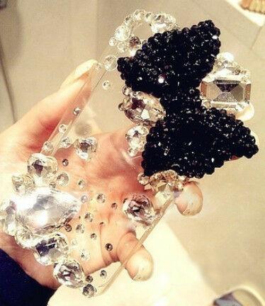 3D Black Bow Bling Rhinestone Handmade Finished Case cover skin for Iphone 5 5F2 in Cell Phones & Accessories, Cell Phone Accessories, Cases, Covers & Skins | eBay