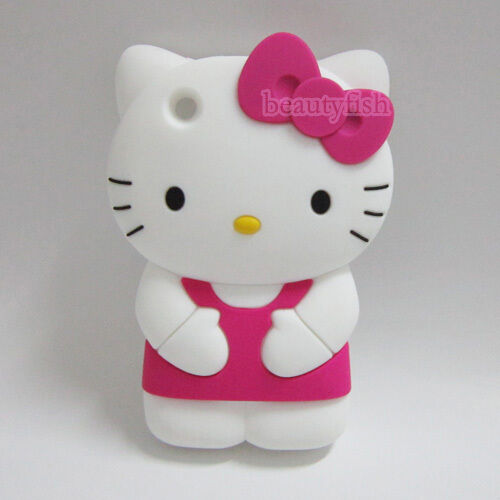 3D Hello Kitty Lovely Silicone Soft Cover Case for Apple iPhone 3 3GIphone 3 Cases Hello Kitty