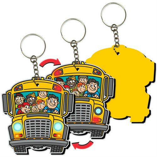 School Bus Kids Key Chain