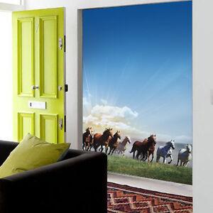 3d prairie pferde fototapeten wandbild fototapete bild tapete familie kinder ebay - Wandbild familie ...