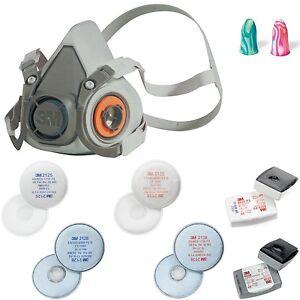 3m halbmaske 6000 partikelfilter staubmaske atemschutzmaske lackiermaske ebay. Black Bedroom Furniture Sets. Home Design Ideas