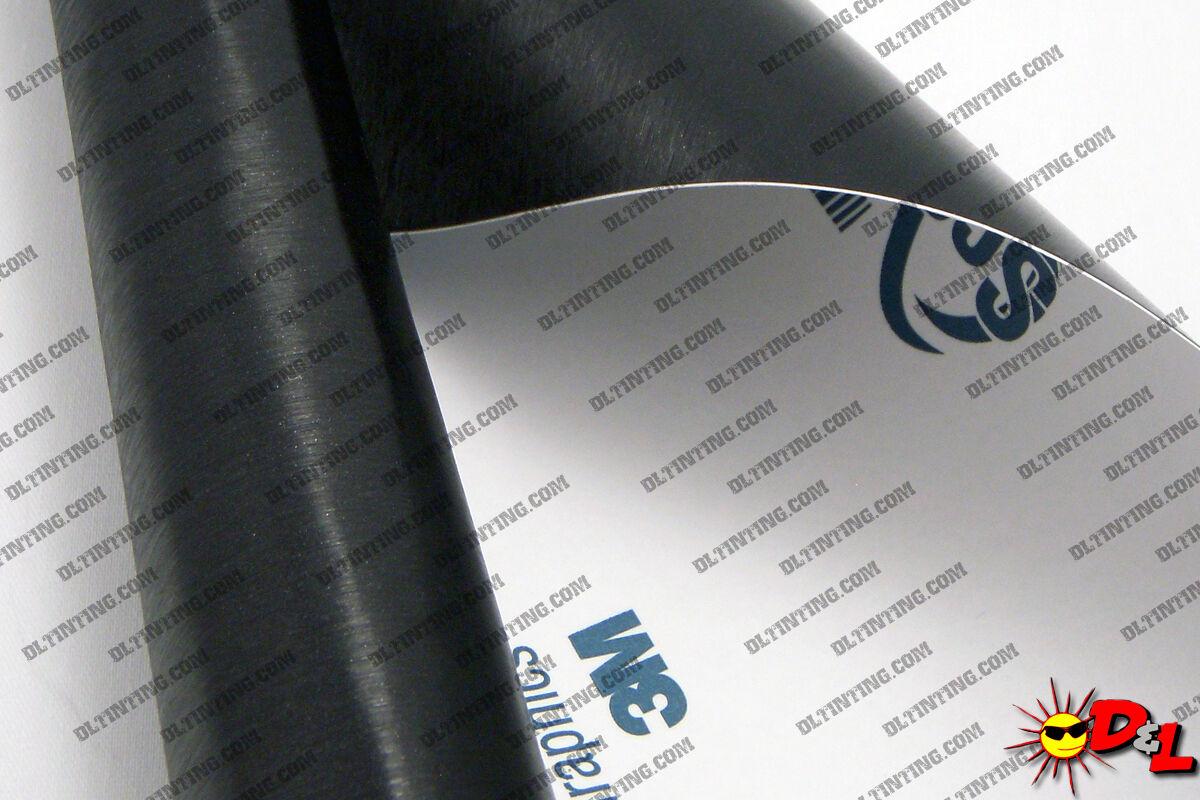"3M Scotchprint Brushed Aluminum Wrap Film 12/""x24/"" 2sq ft."