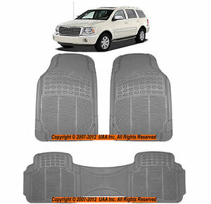3 Pc Xlg Truck Gray Grey Front Rear Runner Utility Rubber