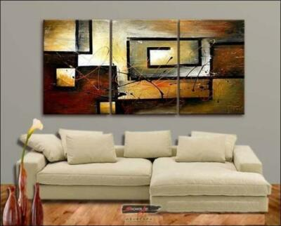 3PC SALE MODERN ABSTRACT HUGE WALL ART OIL PAINTING ON CANVAS (no frame) in Art, Direct from the Artist, Paintings | eBay
