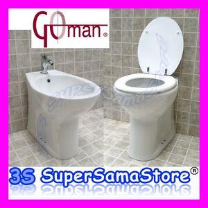 3S SANITARI per ANZIANI DISABILI WC con SEDILE o BIDET GOMAN Open ALTEZZA 47 cm  eBay
