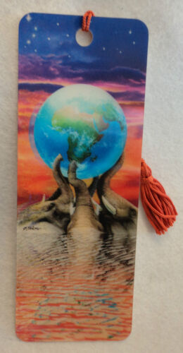 3d lenticular EARTH ELEPHANT action motion BOOKMARK book mark tassel save page in Books, Accessories, Bookmarks | eBay