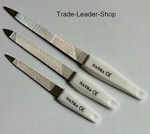 3er-Set-Metall-Nagelfeile-10cm-12-5cm-15-5cm-Metall-Feile-Pedikuere-raspel-NATRA