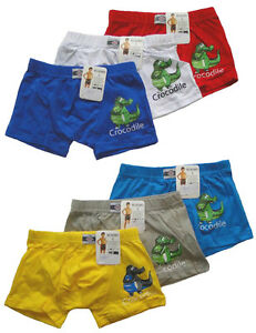 3 39 er set unterhosen jungen boxershorts kinder krokodil cooles motiv boxer slip ebay. Black Bedroom Furniture Sets. Home Design Ideas