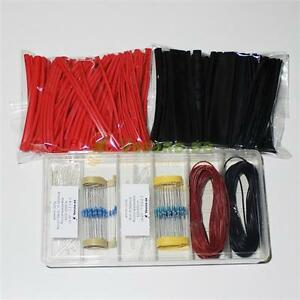 3mm-LED-Set-2x-50-100-LEDs-Widerstaende-2x-10m-Litze-0-14mm-Schrumpfschlauch