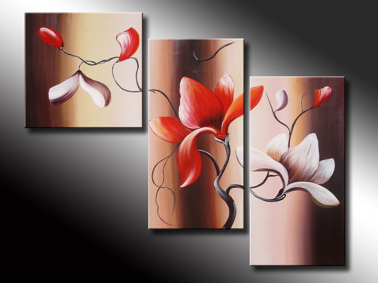Modern Abstract Huge Art Oil Painting Wall Decor 3piece