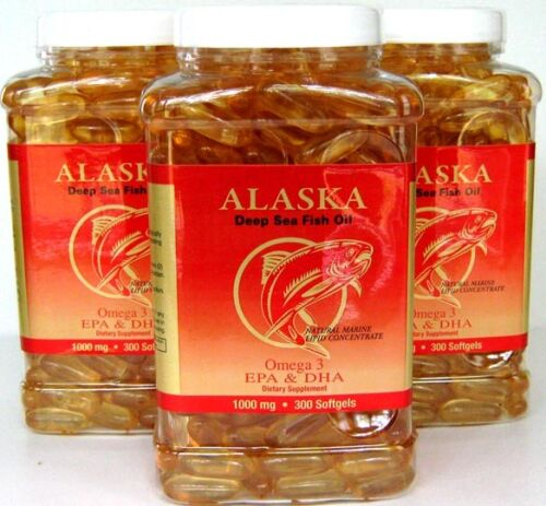 3x Omega 3 =900caps,Alaska Deep Sea Fish Oil, EPA DHA, in Health & Beauty, Dietary Supplements, Nutrition, Vitamins & Minerals | eBay