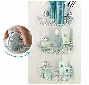 Bathroom Storage Shelves on Shelf Croydex Twist  N  Lock Storage Basket Chrome Corner Toilet Bath