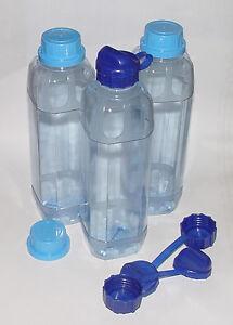 3x trinkflasche 1 liter wasserflasche sportflasche lebensmittelecht polycarbonat ebay. Black Bedroom Furniture Sets. Home Design Ideas