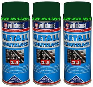 3x400ml lackspray metall schutzlack 2in1 rostschutz lack spr hlack gr n ral6005 ebay. Black Bedroom Furniture Sets. Home Design Ideas