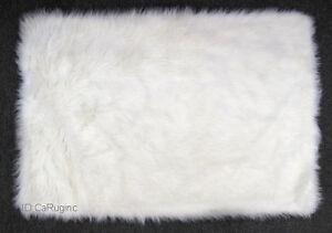 3x5 Rug Shaggy Fluffy Flokati Shag Solid White 3 inch Thick 33x4