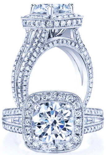 4.00 Ct Round Genuine Diamond Engagement Anniversary Wedding Ring Gold $11745 in Jewelry & Watches, Engagement & Wedding, Engagement Rings | eBay