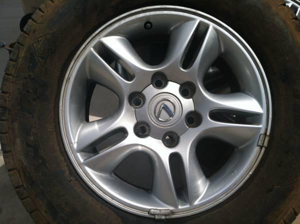 "4 03 07 Lexus GX470 Wheels Factory Wheels Rims 17"" with Center Caps"