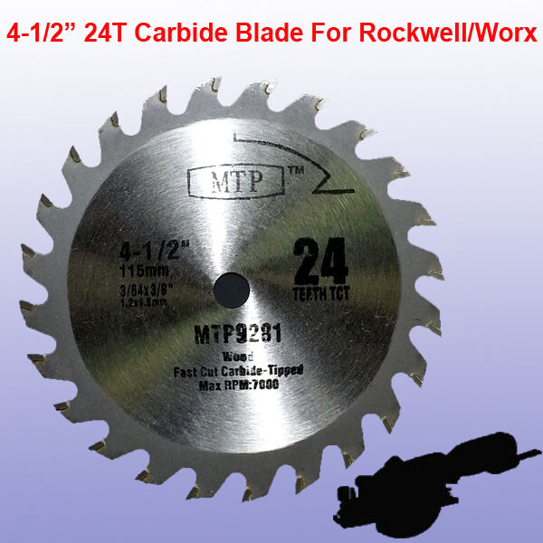 4 1 2 Quot Inch Carbide Circular Saw Blade For Rockwell