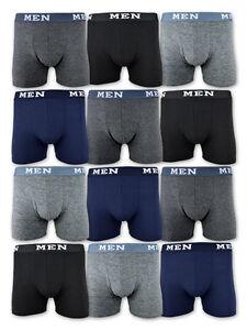 4-10-oder-20-Boxershorts-Baumwolle-Retro-Shorts-Unterhosen-Schwarz-Grau-Blau