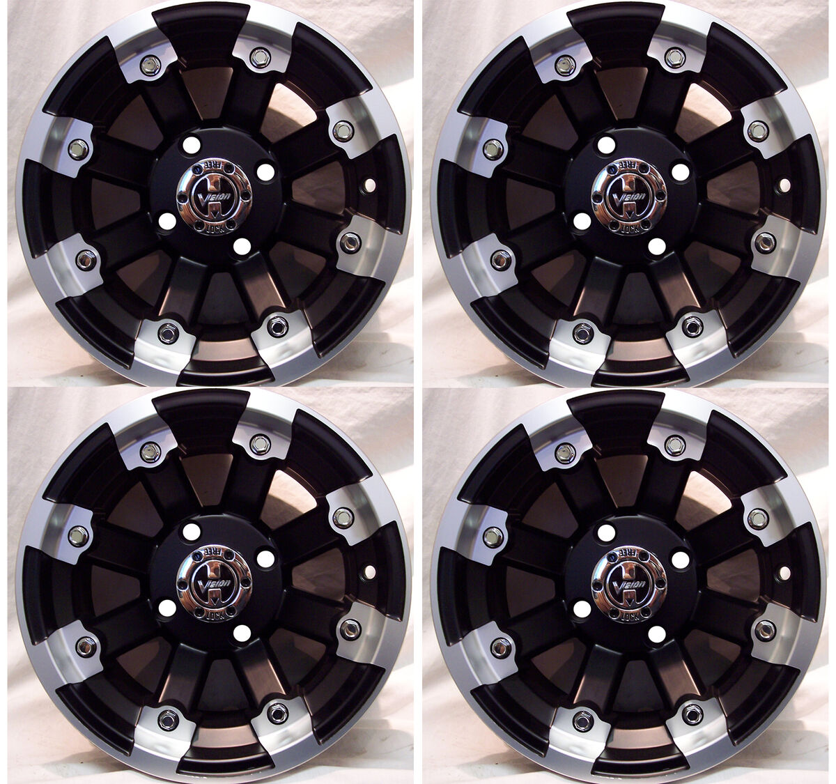 "4 12"" Rims Wheels for 2005 2013 Suzuki King Quad 750 IE w IRS 393 MBML Aluminum"