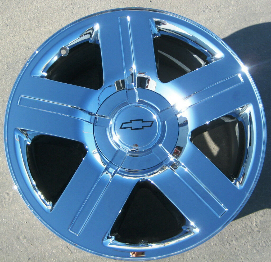 "4 20"" Factory Chevy Avalanche Silverado Tahoe Chrome Wheels Rims Exchange Stock"