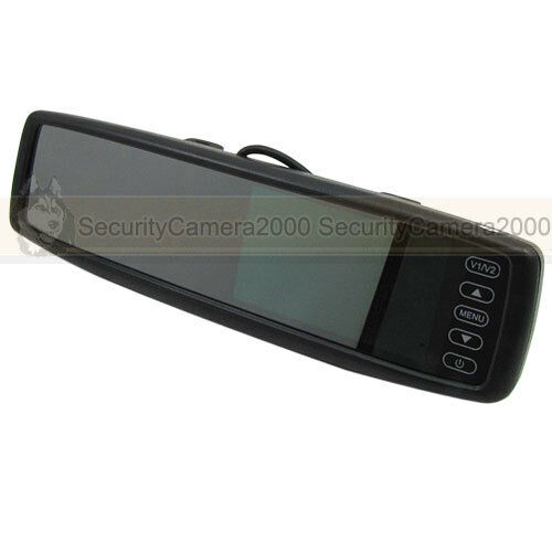 2CHANNEL TFT LCD Video Monitor Car Vehicle Rear View Mirror