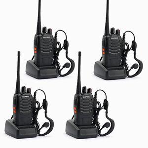 4-Baofeng-BF-888S-CTCSS-CDCSS-UHF-2-Weg-Radio-5Km-Hand-Funkgeraet-Walkie-Talkies