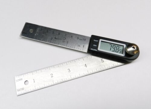 """4"""" DIGITAL ELECTRONIC ANGLE FINDER PROTRACTOR & RULE 7"""" LONG POCKET GONIOMETER in Consumer Electronics, Gadgets & Other Electronics, Other 
