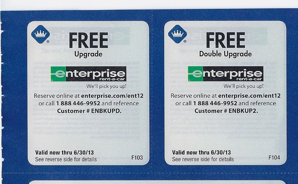 Free Enterprise Rental Car Upgrade Coupons