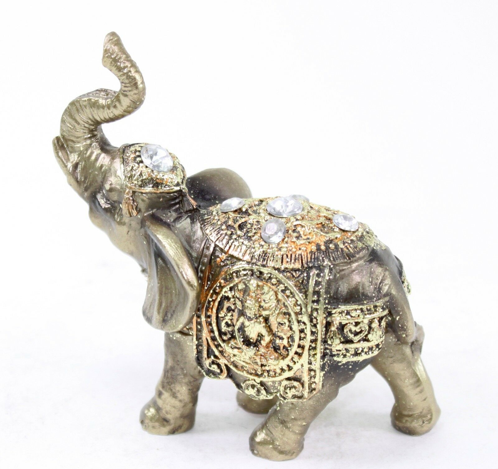 4 Feng Shui Bronze Elephant Trunk Statue Wealth Lucky