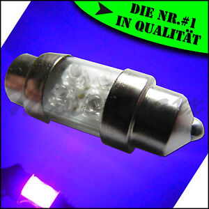 4-LED-29-31-mm-Soffitte-UV-Violett-Lila-Purple-Schwarzlicht-C5W-Beleuchtung