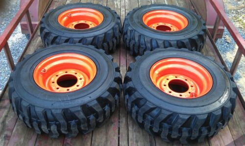 4 NEW 12X16.5 Skid Steer Tires & Rims for Bobcat - 12-16.5 - 12 ply in Business & Industrial, Construction, Heavy Equipment & Trailers | eBay