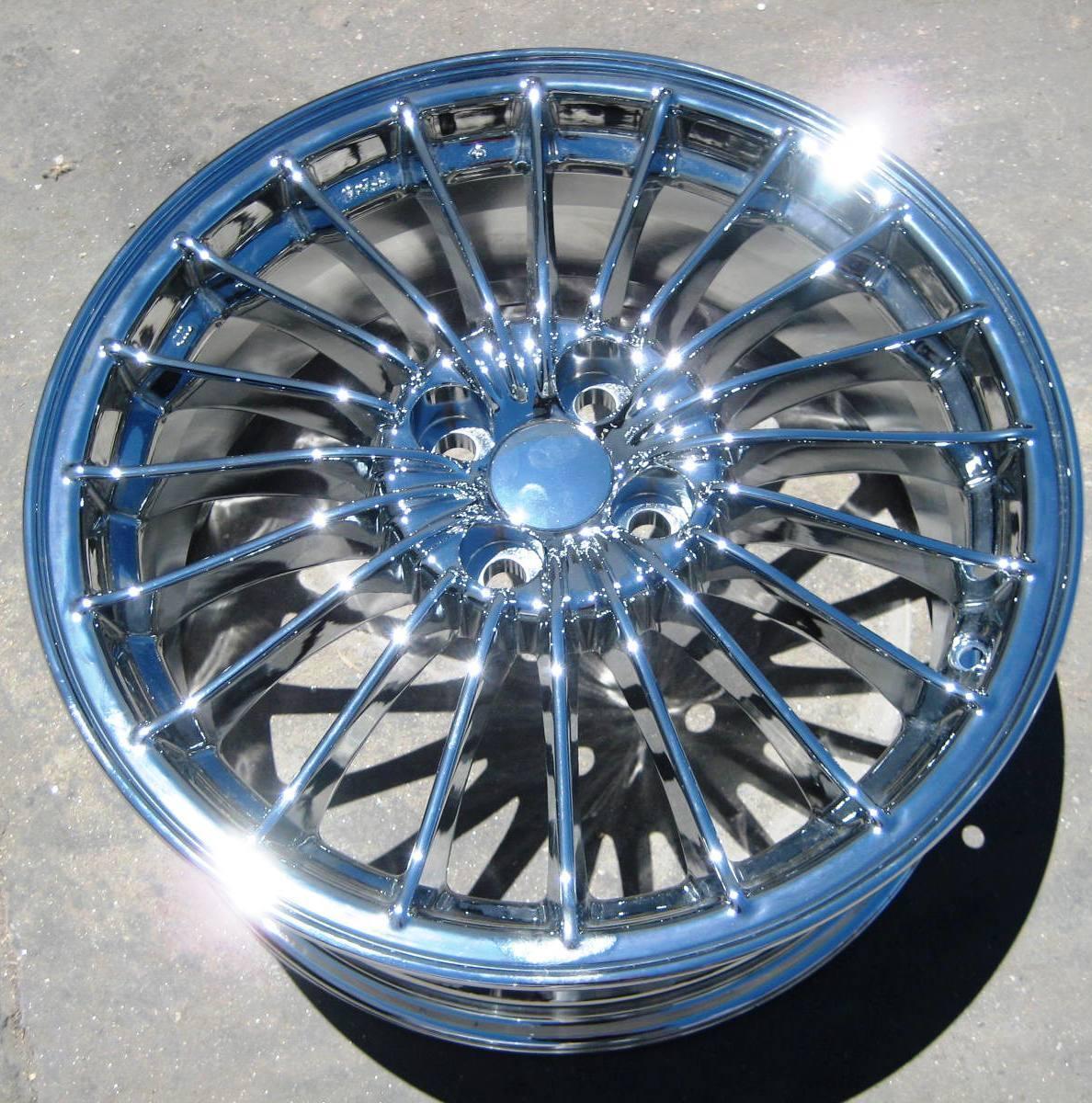 "4 New 17"" Factory Toyota Yaris Scion XA XB Honda Fit Insight Chrome Wheels Rims"