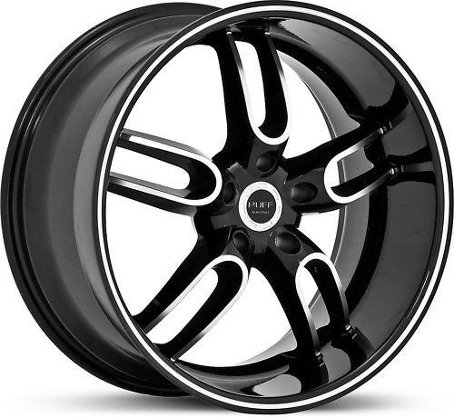 New 20 Staggered Ruff Racing R944 Black Rims Wheels