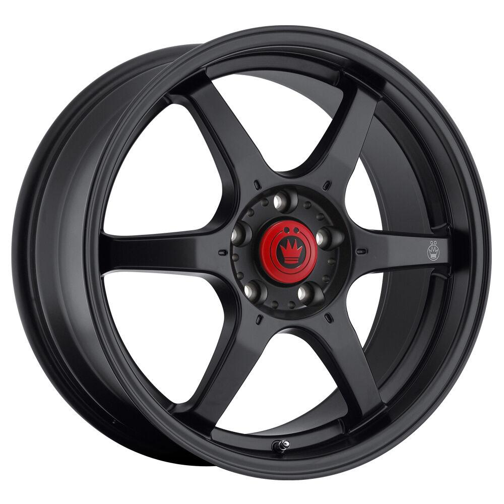 New Konig Backbone 15x6 5 4x100 ET38 Matte Black Rim Wheels