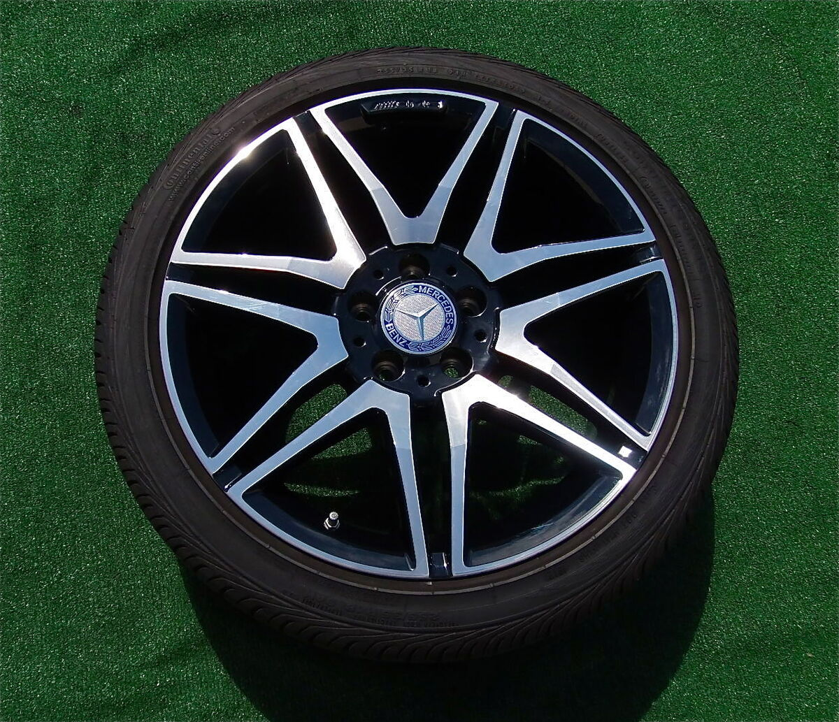 4 New 2013 Mercedes Benz AMG 18 inch Black Wheels Tires TPMS C250 C300 C350