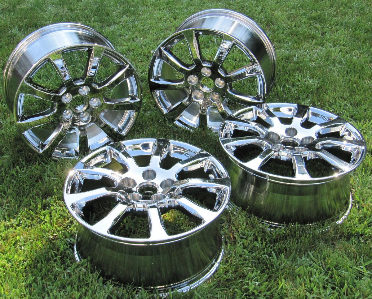 "4 New Chrome 18"" Cadillac cts Sedan Factory Wheels Rims 4672"
