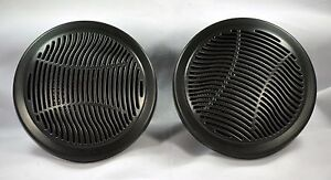 4-PAIR-2-Way-Waterproof-Marine-Outdoor-Bathroom-Speakers-in-Black