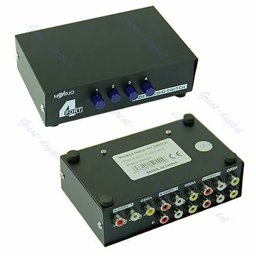 Audio Input Box : Port input output audio video av rca switch switcher