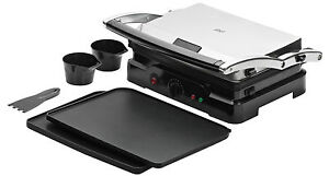 4 portion contact grill with removable non stick plates griddle health grilling ebay - Health grill with removable plates ...