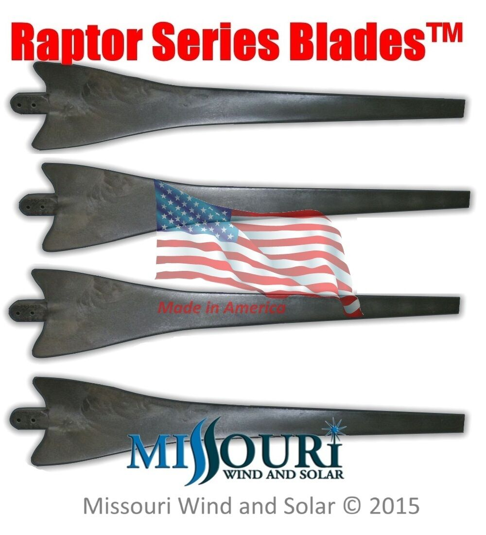 Details about 4 Raptor Generation 4 Black Wind Turbine Generator Blades  Made in the USA