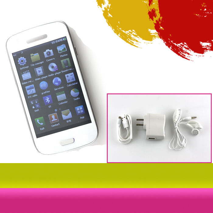 """4"""" Resistive Touch Screen Unlocked Quad Band Dual Sim T Mobile Cell Phone at T"""