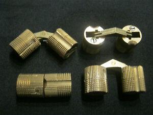4-Stk-Einbohr-Scharniere-Zylinder-12mm-Messing-Top-Excellent-Einbohrscharnier