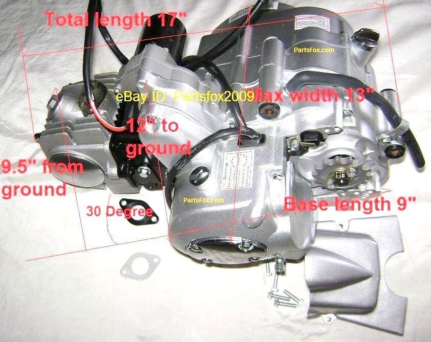 Stroke 125cc Motor Engine ATV Go Kart 3 speed w/ REVERSE Fit
