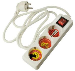 4-Stueck-3-fach-Steckdosenleiste-3x-Schukostecker-mit-Schalter-TUV-GS-geprueft