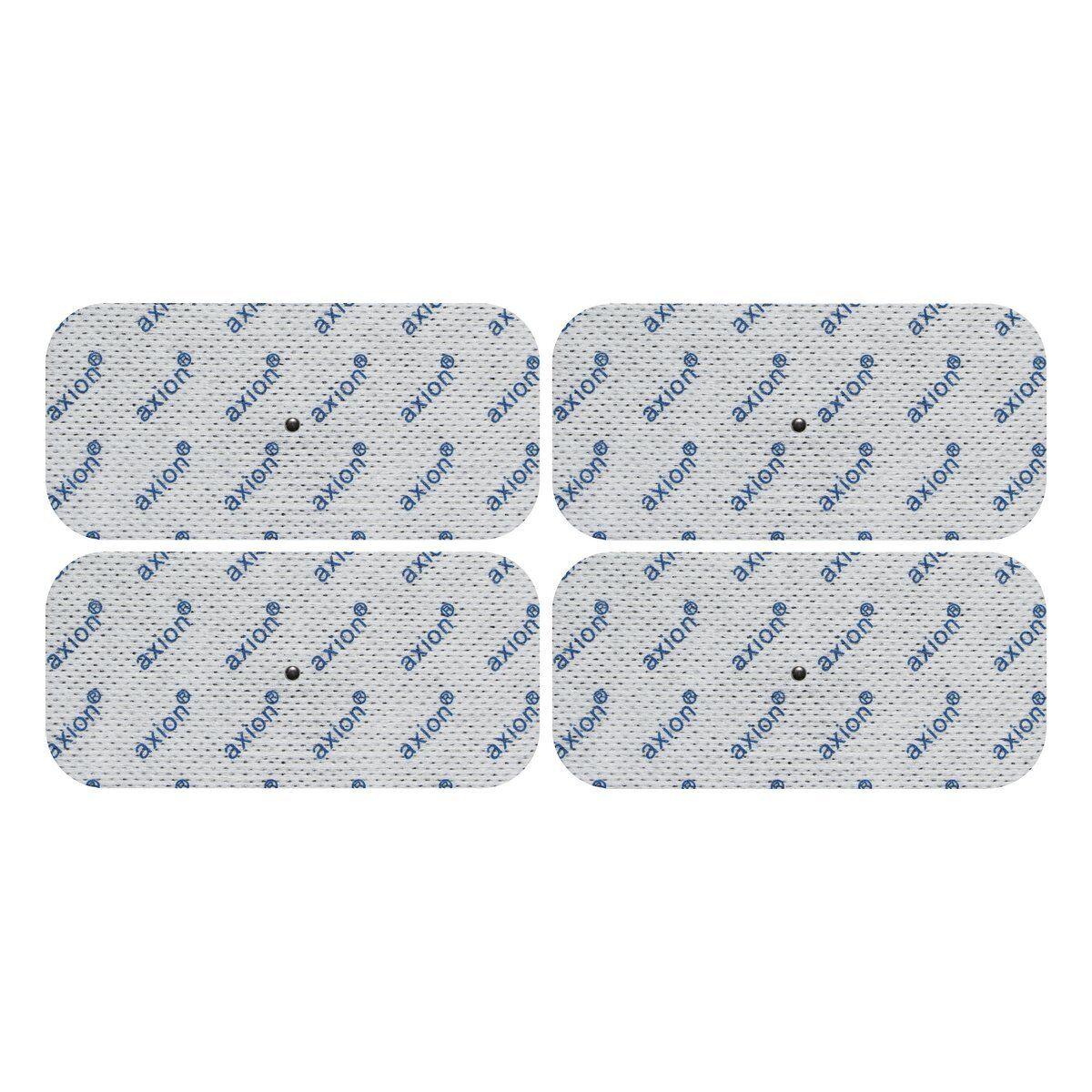 4xTENS DRUCKKNOPF Elektroden Pads 10x5cm passend zu tens Gerät HESTIA RELAX 1000
