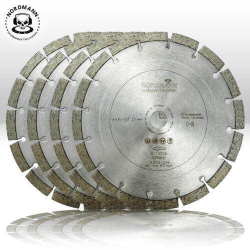 4 st ck diamant trennscheibe diamantscheibe 230 mm nordmann n12 beton ebay. Black Bedroom Furniture Sets. Home Design Ideas