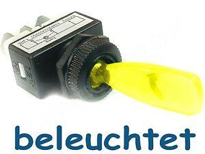 4-Stueck-Kippschalter-KFZ-gelb-beleuchtet-12-V-6-A