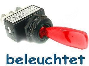 4-Stueck-Kippschalter-KFZ-rot-beleuchtet-12-V-6-A