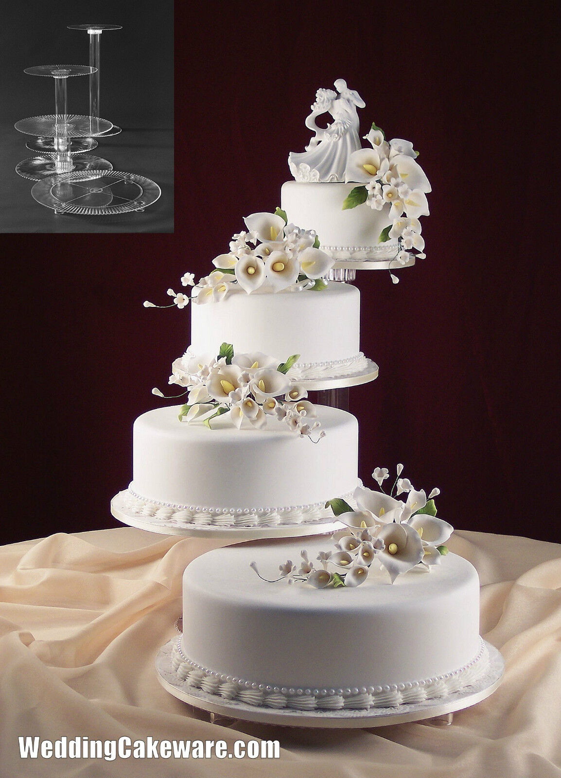 TIER CASCADE WEDDING CAKE STAND STANDS SET